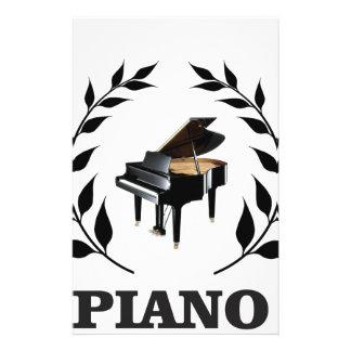 black piano stem customized stationery
