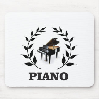 black piano stem mouse pad