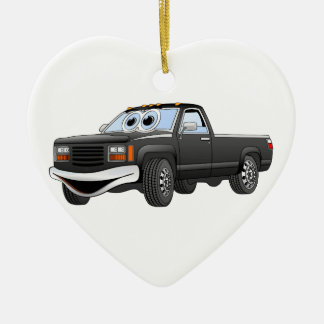 Black Pick Up Truck Cartoon Christmas Ornament