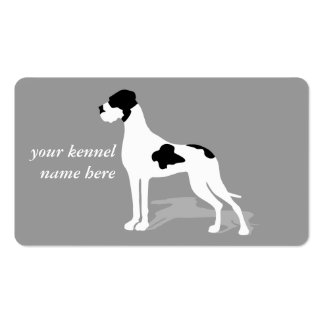 Black Piebald Great Danes Business Card Template
