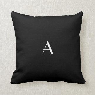 Black Pillow w White Monogram