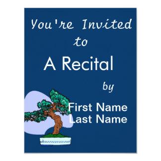 Black Pine Bonsai Graphic Image Custom Invite