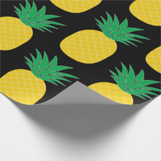 Black Pineapple Wrapping Paper