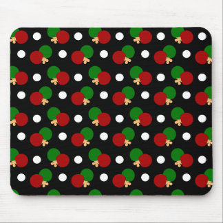 Black ping pong pattern mouse pad