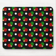 Black ping pong pattern mouse pads