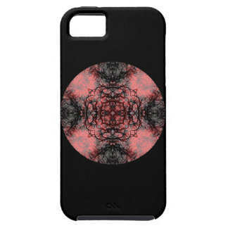 Black, Pink and Gray Gothic Pattern. iPhone 5 Cover