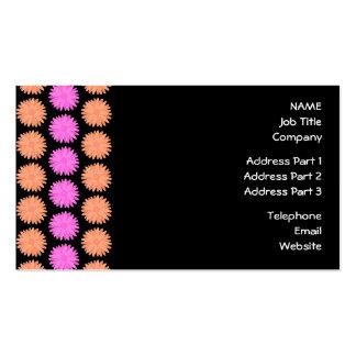 Black, Pink and Orange Floral Pattern. Business Cards