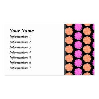 Black, Pink and Orange Floral Pattern. Pack Of Standard Business Cards