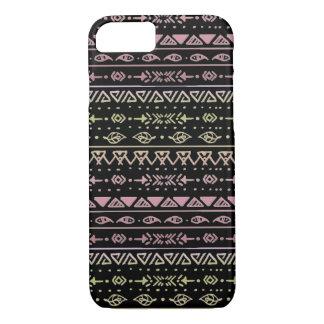 Black, Pink, and Yellow Tribal Boho Pattern Case