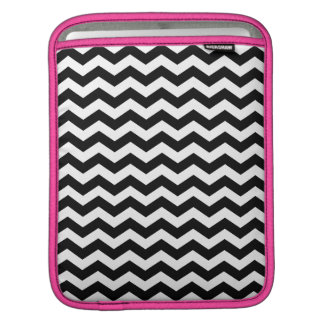 Black Pink Chevron iPad Sleeve