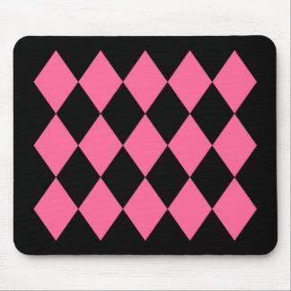 Black & Pink Diamonds Mouse Pad