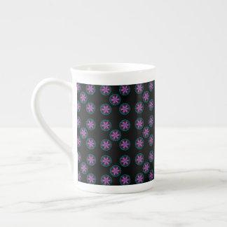 Black Pink,Green,Mauve Pattern China Mug