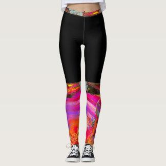 Black & Pink Leggings