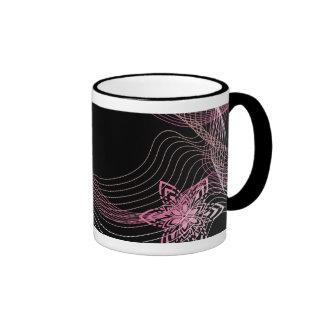 black pink mug
