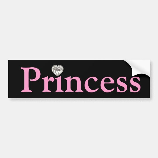 Black & Pink Princess Bumper sticker