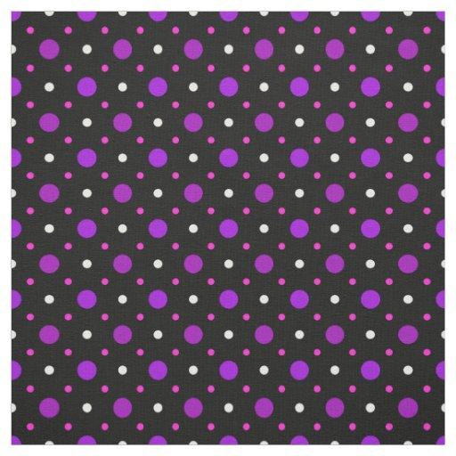 Black Pink Purple Spot Polka Dot Pattern Fabric