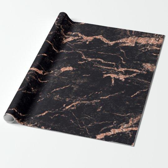 Black Pink Rose Blush Stripes Marble Stone Glam
