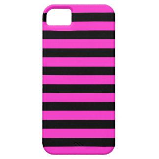 Black Pink Stripes horizontal iPhone 5 case