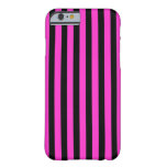Black Pink Stripes vertical iPhone 6 case Barely There iPhone 6 Case