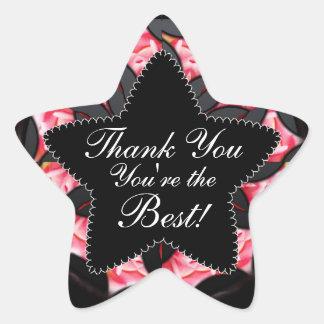 Black Pink Thank You Best Star Sticker