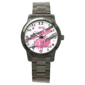 Black, Pink & White Hot High Heels Watch
