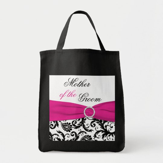 Black, Pink, White Mother of the Groom Tote