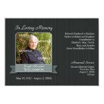 Black Pinstripe Banner Memorial Notice 11 Cm X 16 Cm Invitation Card