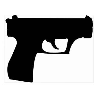black pistol - gun postcard