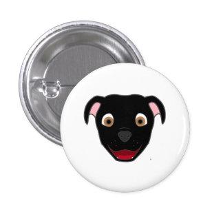 Black Pitbull 3 Cm Round Badge
