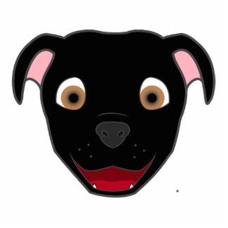 Black Pitbull Photo Sculpture Badge