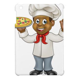 Black Pizza Chef Cartoon Mascot iPad Mini Case