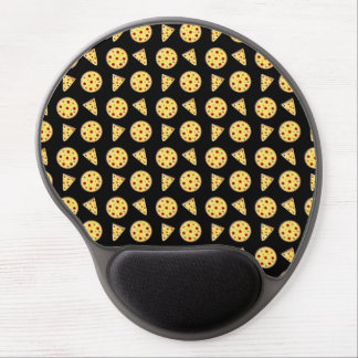 Black pizza pattern gel mouse mat