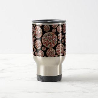 Black pizza pie coffee mug