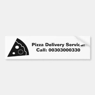 Black Pizza, Pizza Delivery Service, Bumper Sticker