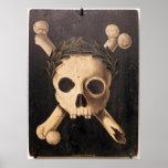 Black Plague Art - Skull and Crossbones Poster