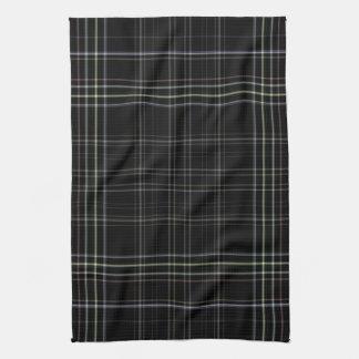 Black Plaid Hand Towel