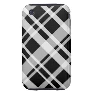 Black Plaid iPhone 3G Tough Case Tough iPhone 3 Case
