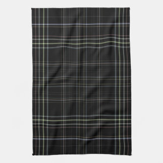 Black Plaid Tea Towel