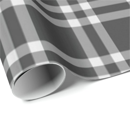 Black Plaid Wrapping Paper