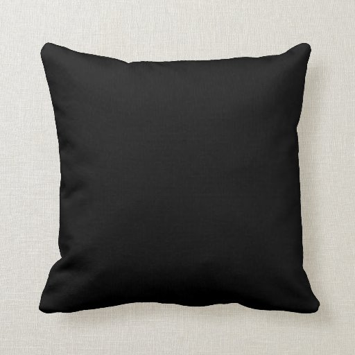 Black plain beautiful luxury cushion pillow
