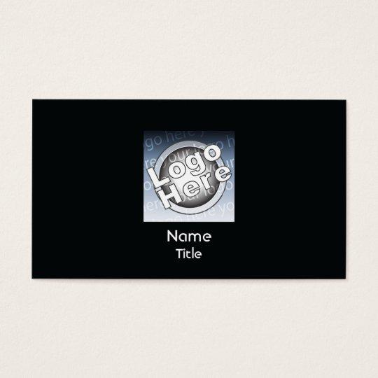 Black Plain Business Business Card