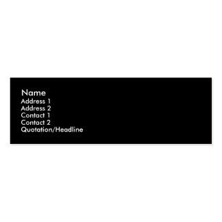 Black -Plain- Profile Card Business Card Template