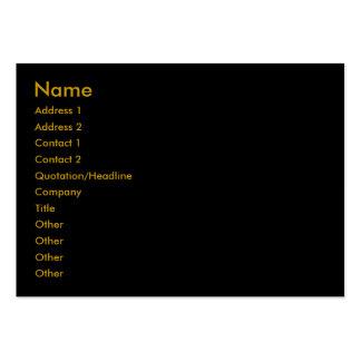 Black -Plain- Profile Card Business Cards