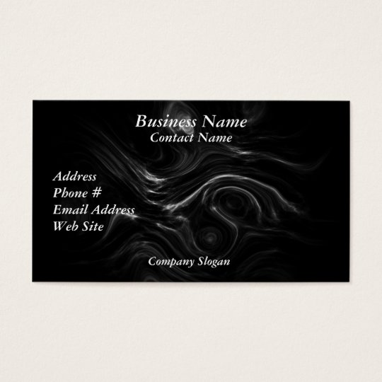 Black Plasma Energy Abstract Art Business Cards