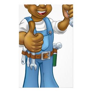 Black Plumber Mechanic or Handyman Customised Stationery