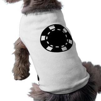 Black poker chips sleeveless dog shirt