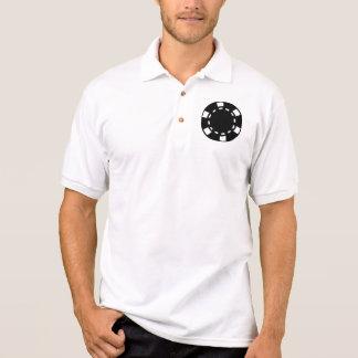 Black poker chips polo shirt