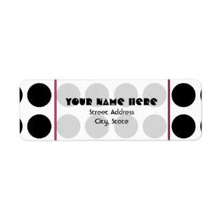 Black Polka Dot Address Label