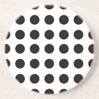 Black Polka Dot Coaster