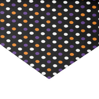 Black Polka Dot Halloween Tissue Paper